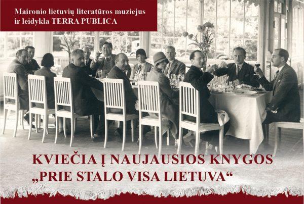 "Pasimatykime knygos ""Prie stalo visa Lietuva"" pristatyme"