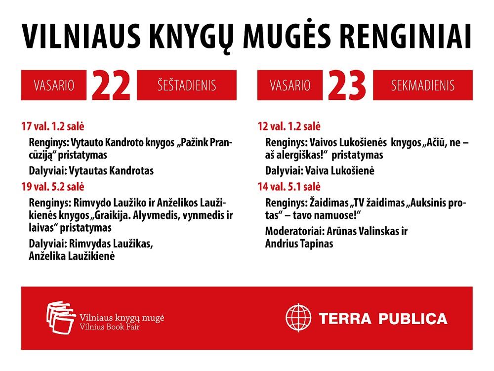 Susitikime Vilniaus knygų mugėje!