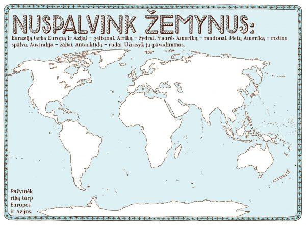 RINKINYS: Pasaulio atlasas ir Spalvonių knyga jaunajam tyrinėtojui 5