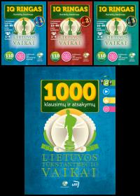 Rinkinys: Lietuvos tūkstantmečio vaikai (1000 klausimų ir atsakymų, IQ ringas Nr. 1, IQ ringas Nr. 2, IQ ringas Nr.3)