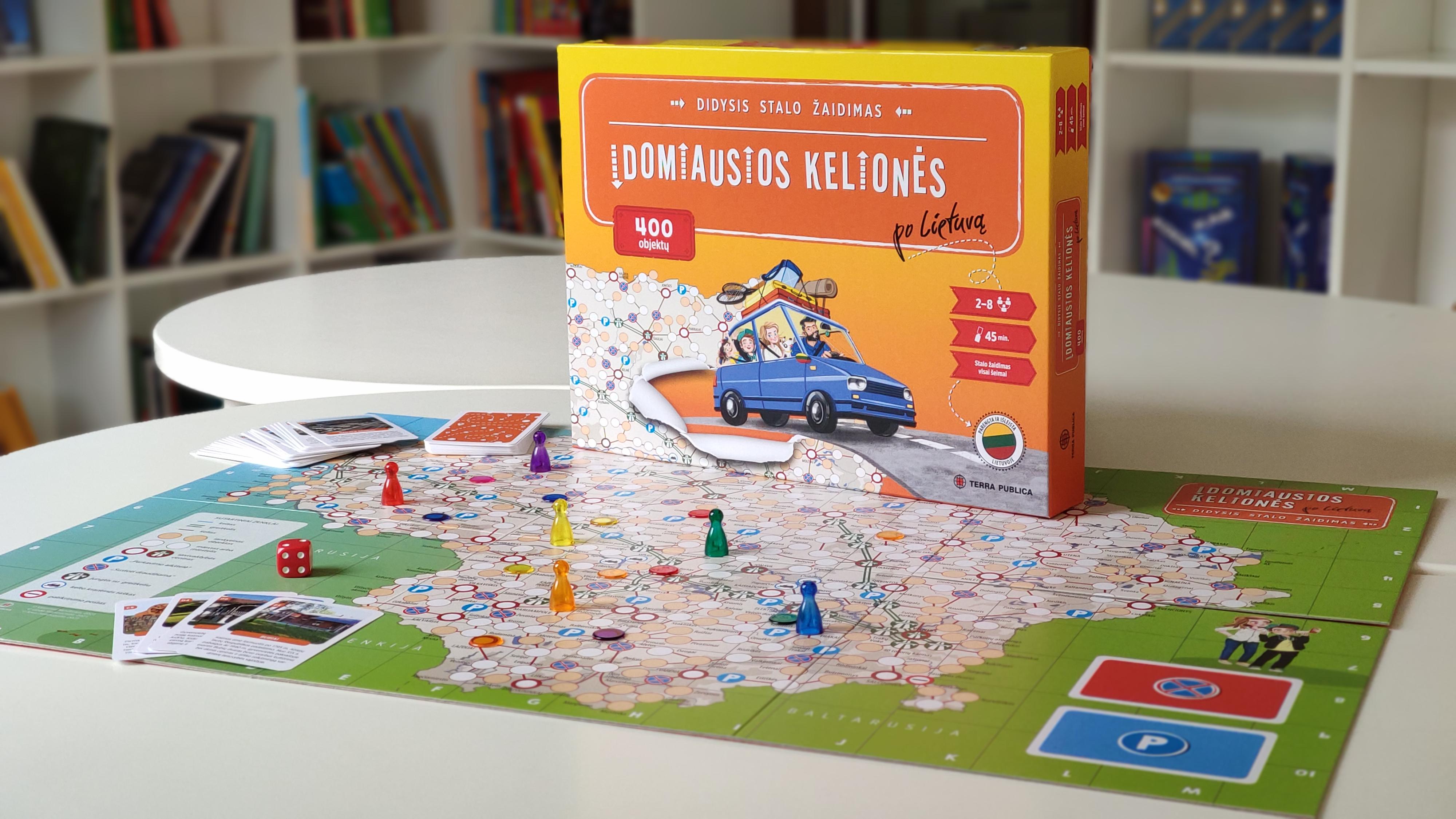 Įdomiausios kelionės po Lietuvą. Didysis stalo žaidimas